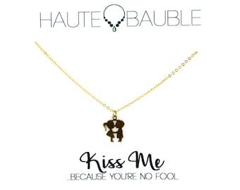 Kiss Me Pendant Necklace