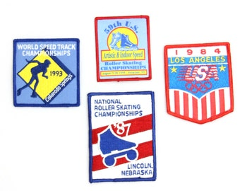 Vintage United States Roller Skating Patches