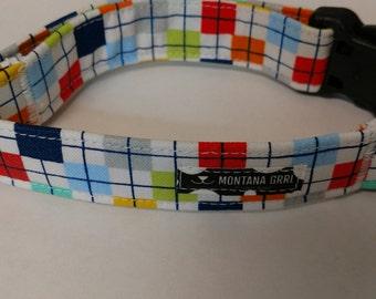Confetti Pet Collar, multi color cat collar, multi color dog collar, adjustable collar