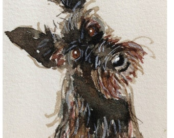 Scottie Dog  Art Print Scottish Terrier #64