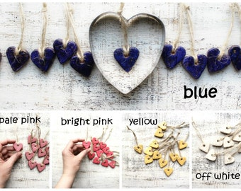 12 Colors Boho Gift Tags Heart Napkin Holders Place Card Wedding Favors Guest Bridal