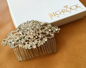 Rhinestone Wedding Hairpiece - Vintage Rhinestone Haircomb - BEST SELLER