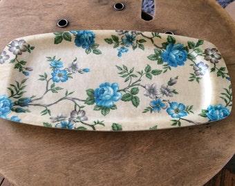 Vintage Serving Tray - circa 1950's-1960's Fibreglass Tray