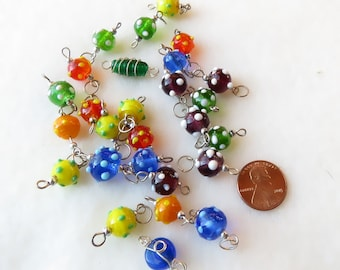 Wire Wrapped Vintage Beads