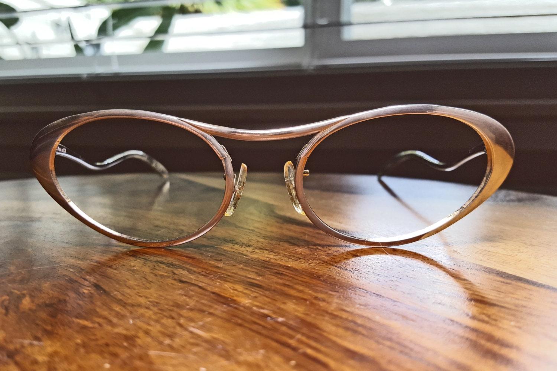 Vintage Silver Tura Cat Eyeglasses NOS Discount
