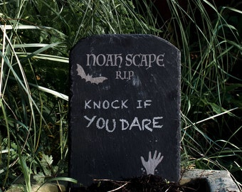 Halloween Garden Slate Tombstone Decoration