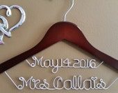Bride Hanger with Date for your wedding pictures, Personalized custom bridal hanger, brides hanger, Bridal Hanger, Wedding hanger, Bridal