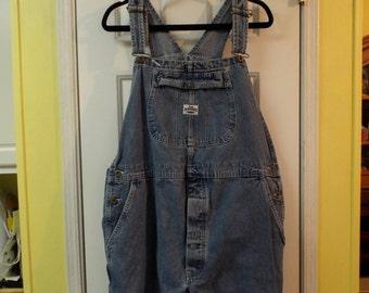 Vintage Denim Jean Overalls by Size XL Cotton Lee Dungarees