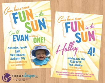 Fun in the Sun Birthday Invitation Printable