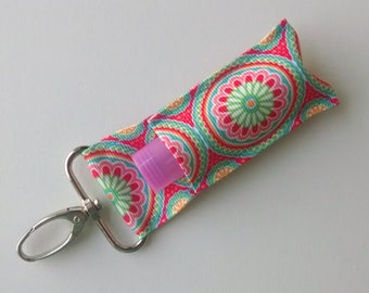 Lip Balm Holder - Chap Stick Holder - USB Holder - Floral Lip Balm Holder - Flowers and Circles