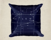 Leo Constellation Pillow - Leo Star Sign - Zodiac Art - Leo Art - Constellation Art - Astronomy Pillow - Star Sign Gift - Lion Pillow