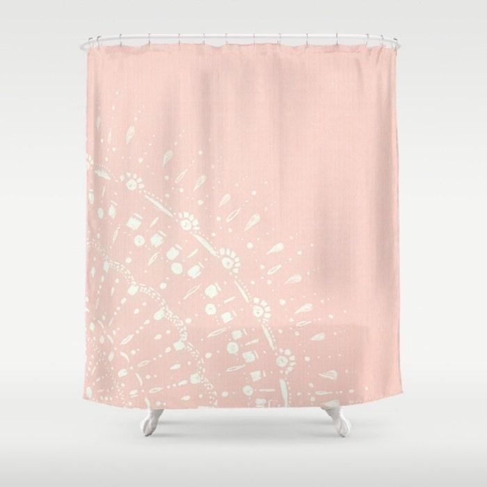 Blush Pink Shower Curtain Pink Shower Curtain Blush Pink