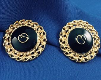 St. John Classic Clip Earrings
