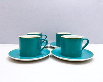 Schmid Kreglinger 'Kelco' Lagardo Tackett-designed cup/saucers, set of four