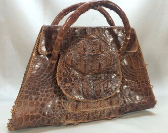 Vintage 1940's Alligator Hand Bag