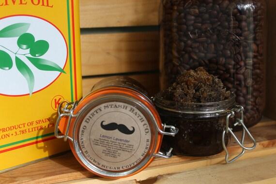 Organic Brown Sugar Coffee Scrub Lime Basil essential oil 5 & 9 ozs