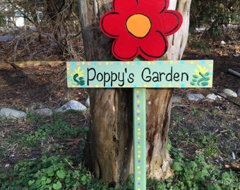 Dad's Garden sign garden stake lawn ornament