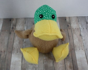 Stuffed Mallard Duckling - Adorable Pouty Little Mallard Stuffed Duckling
