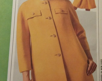 UNCUT and FF Pattern Pieces Vintage McCalls New York Designers Collection Plus Sewing Pattern  N/1014  size 18