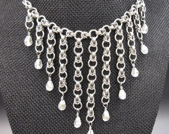 Byzantine Cascade Chainmaille Necklace