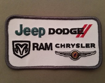 jeep dodge chrysler embroidered auto patch