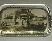 Reserved for brentk9 *****Rectangle Glass Paperweight of General Meade's Headquarters Gettysburg PA