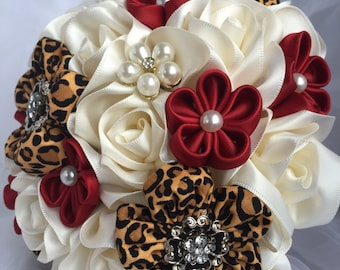 Ribbon Flower Bouquet, Wedding Ribbon Flower Bouquet