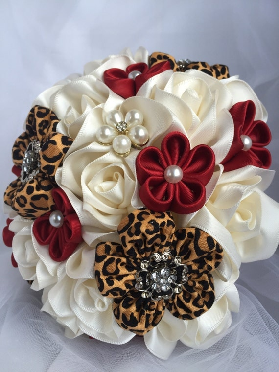 Bridal Bouquet Out Of Ribbons : Ribbon flower bouquet wedding