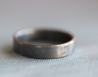 CHASE:  The Boyfriend Ring, Ladies, Wedding Ring, Wedding Band, Sterling Silver, Modern, Minimalist, Rustic, Bohemian,  Made To Order
