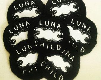 Screen printed 'Luna Child' patch