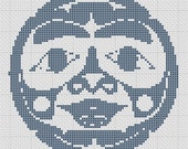 Haida Moon Spirit Pacific North West Cross Stitch Pattern PDF