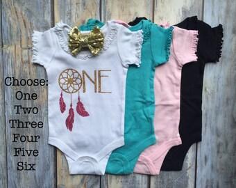 First Birthday Outfit, 1st Birthday Girl Onesie, Baby Girl Bodysuit, One, two, Baby Girl Glitter Onesie, Birthday Onesie, Baby Girl Clothing