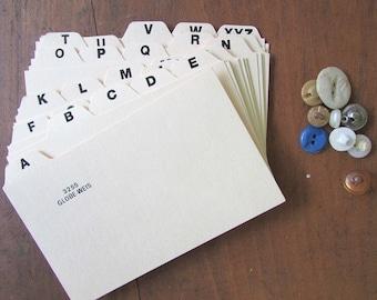 Alphabet Dividers Vintage Wedding Seating Assignment (1) Set Index Divider Cards
