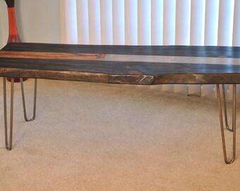 Hairpin leg bench