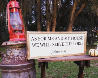 As for me and my house we will serve the Lord sign CUSTOM