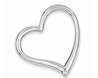 Sterling Silver Heart Slide