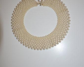 Vintage Hong Kong Adjustable Pearl Collar
