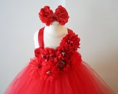 Red Sparkle Christmas Tutu Dress - infant thru girls 10
