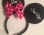 Minnie mouse inspired birthday girl headband