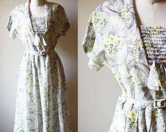 1950s colour by numbers dress // swiss dot dress // vintage dress