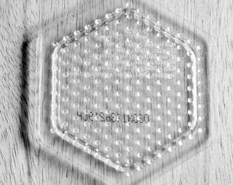 Hexagon Pegboard, Ironing Paper, Instructions, Bead Art Supply, Craft Supply, Church Craft Supply, Kids Crafts