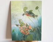 Turtles 9x12 Art Print