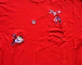 Big Time Baller Vintage 1996 Looney Tunes Soccer Pocket T-Shirt
