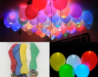 LED Light Up Balloons Blink Mixed Color Birthday Party Wedding Celebration