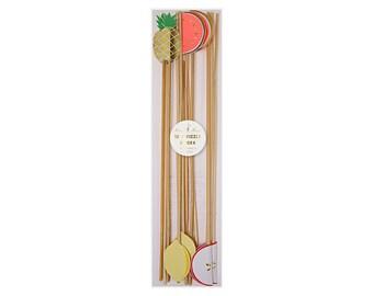 Fruit Swizzle Drink Sticks by Meri Meri, Party Decorations, Party Supplies, Tableware