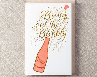 Bubbly Foil Letterpress Greeting Card