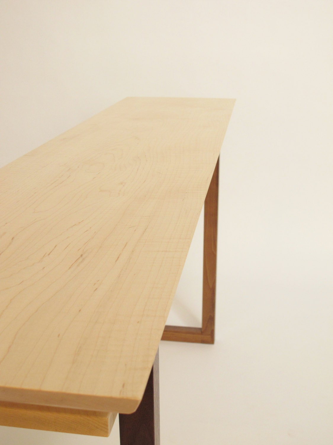 Contemporary Long Low Console Table Narrow By