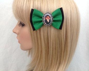 The Lion King Scar hair bow clip rockabilly psychobilly disney simba nala timon pumba kawaii pin up fabric green black ladies girls women
