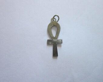 1960's Hippy Cross Siver Charm