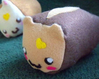 Plush / Plushie Cat Shaped Breakfast Bread Loaves